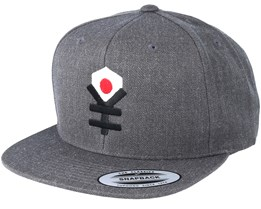 Yen Flag Dark Heather Grey Snapback - Yapan