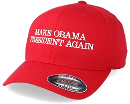 Make Obama President Again Red Flexfit - Iconic