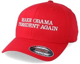 Make Obama President Again Red Flexfit - Iconic