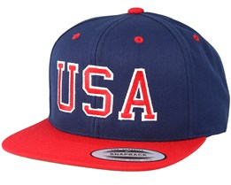 USA Navy/Red Snapback - Iconic