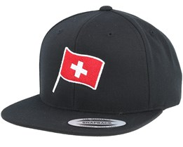 Swiss Flag Black Snapback - Forza